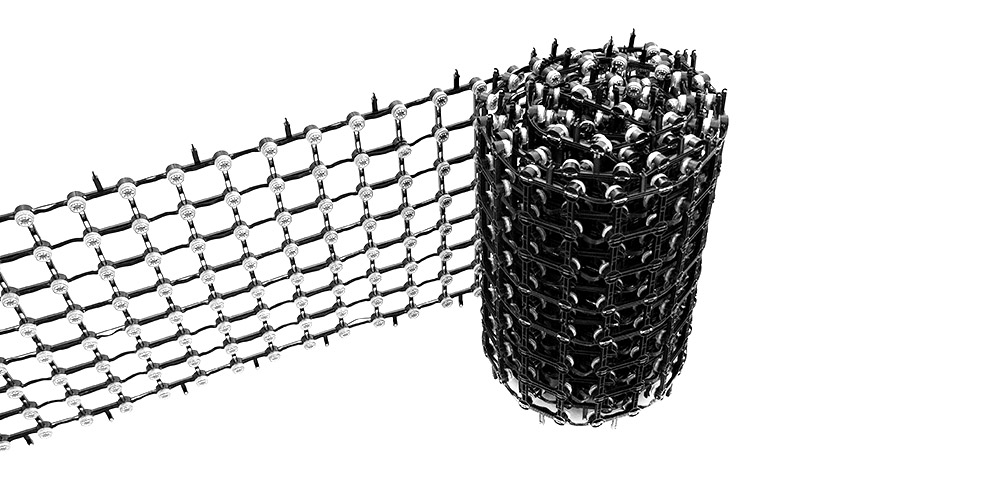 LED flexible mesh screen