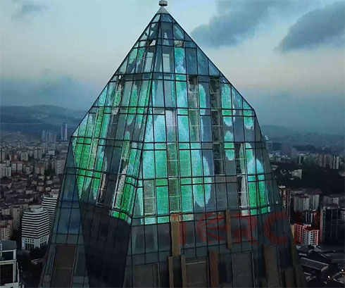 led curtain wall project in Turkey by Torchvisual