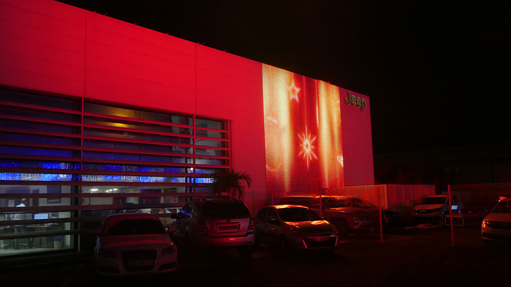 led curtain wall project in France, by Torchvisual