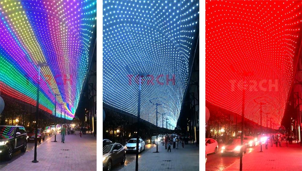 LED Mesh screen project in Jordan