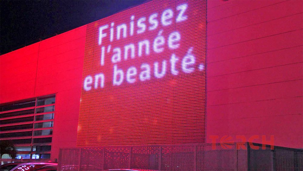led curtain screen in france