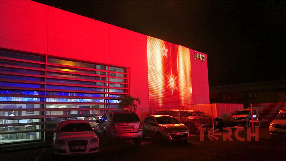 outdoor transparent led curtain