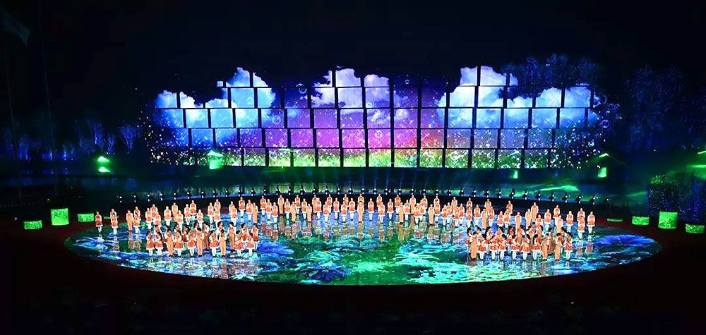 led backdrop display screen